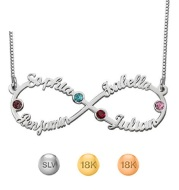 S925 Sterling Silver Infinity 1-4 Jewelry Personalized Name Custom Necklace Jewelry Factory Wholesale